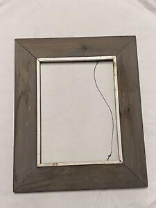 Mid Century Modern Wide Frame Wood Picture Frame Dark Gray White Cape Ann 9 X 12