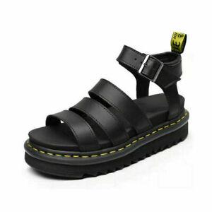Ladies Womens Flatform Summer Ankle Strap Sandals Chunky Platform Gladiator Shoe