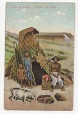 Cabana De Pescador Sao Vicente Cabo Verde Vintage Postcard 796b