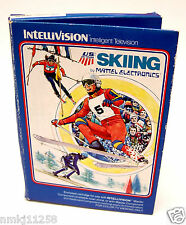 1980 VINTAGE COMPUTER VIDEO GAME SKIING MATTEL INTELLIVISION #1817 ORIGINAL BOX