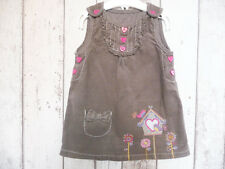 Gorgeous Baby Girl Embroidered Corduroy Pinafore Dress - TU (6 - 9 months)