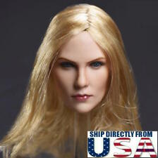 1/6 American Female Head Sculpt BLONDE For PHICEN TBLeague Hot Toys Figure USA