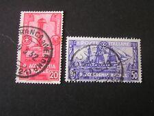 ITALY, SCOTT # 265/266(2), 20c+50c. VALUES 1931 50TH. ANNIV ROYAL NAVAL USED