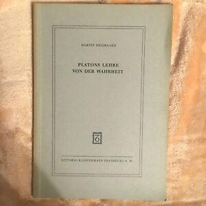Platons Lehre von der Wahrheit Martin Heidegger Vittorio Klostermann Frankfurt