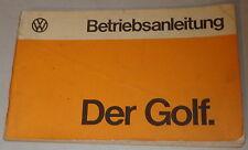 Instrucciones Servicio VW Golf 1/ I De 08/1974