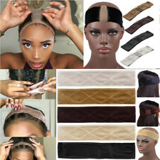 Women Flexible Velvet Lace Wig Grip Scarf Headband Adjustable Fastener Hair Band