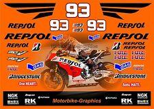 2014 Repsol Marques Moto GP Raza Calcomanías Gráficos Pegatinas Kit Completo