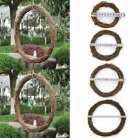 Garland Hanging Round Wreath Festive Rattan Ring 10-30cm Photoing Wall DIY Decor