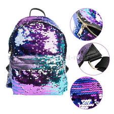 Bleeding Heart Purple Blue Girls Mermaid Glitter Sequin Backpack / School Bag