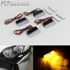 4 x Motorcycle LED Turn Signals Blinker Rear Mini Micro Tiny Lever Lights Flush