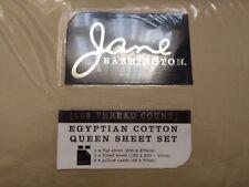 Jane Barringto 500 THREAD EGYPTIAN COUNT COTTON SHEET SET- QUEEN BED Wheat