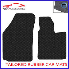 VW Caddy 2004 - Onwards Black Floor Rubber Fully Tailored Car Mats 3mm 2pc Set