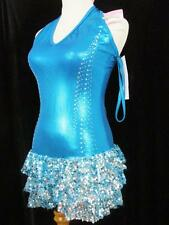 Halter Style Foil Crystals Sequin Curtain Call Costume AMED