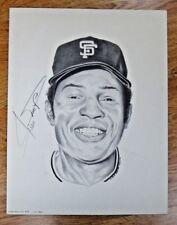 Willie Mays Baseball HOF Signed 14x18 Lithograph 745/1500 JSA/PSA Guarantee