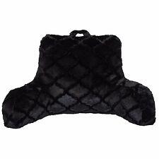 Bed Pillow Comfort Reading Rest TV Cushion Back Support Dorm Backrest Fur Black
