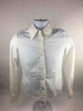 G Gigli Mens Button Front Shirt Ivory Solid Long Cuffed Sleeves Cotton Blend 42
