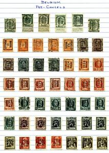 Belgium - Collection of 97 All Different Pre-cancels in Excellent Condition