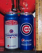 2016 PEPSI CHICAGO CUBS WORLD SERIES CHAMPS & CHICAGO CUBS 16 OZ ALUMINUM CANS