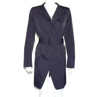 Jil Sander Uniqlo +J Dark Blueish Purple Trench Jacket Rain Coat size Large /620
