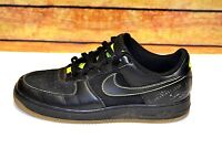 Nike Air Force 1 '07 315122-002 Men's  Black/Neon Green Size 13