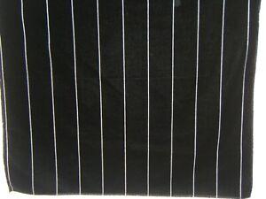 "Ralph Lauren, Bancroft Velvet Stripe , Remnant, 27"" W X 27""  L, Cl Indigo Black"