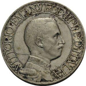Italy, 2 Lire 1908 R, Vittorio Emanuele III