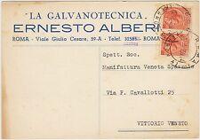 ROMA - LA GALVANOTECNICA - ERNESTO ALBERI 1959