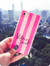 Cute Lovely PINK Stripe Soft Silicone Case Cover for iPhone 5 6 7 8Plus Samsung