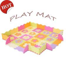 Baby Play Mat with Fence Interlockin Foam Floor Tiles Crawling Waterproof Mat Us