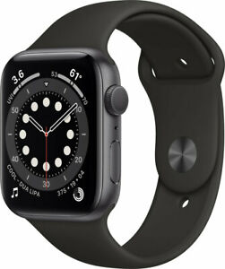 Apple Watch Series 6 LTE GPS 44mm Aluminium Space Grau Sportarmband #