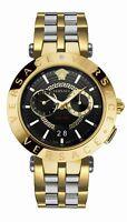 Versace Herren Armbanduhr Schweizer Uhr NEW V-RACE 46MM.D/BLK B/bic IP2Nbicolor