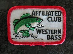 Vintage Mint Fishing Patch - Affiliated Club Western Bass - 3 x 2 inch