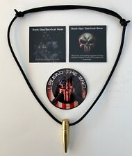 .50 Cal Sniper HOG TOOTH Paracord ...Necklace ...+ 1 Decal   ...Black