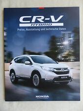 Honda CR-V Hybrid - Preisliste MJ 2019 - Prospekt Brochure 01.2019