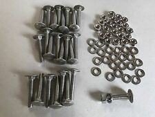 Hardwood Bench Slat Fixing Kit : 24 Stainless Steel Nuts Bolts Washers 35mm X M6