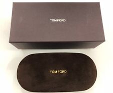 Tom Ford Large Spectacles Sunglasses hard case & Cloth Brown Suede NEW