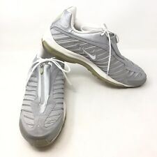 Nike Air Max Heel Fit 2001 Mens 12 Zip Up Sneaker 604221 101 Silver Gray L3A