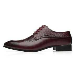 Mens Oxfords Brogue Leather Shoes Formal Business Formal Shoes Chelsea Boots