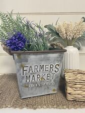 Planter Storage Display Farmers Market Farmhouse Hamptons Rustic French Country