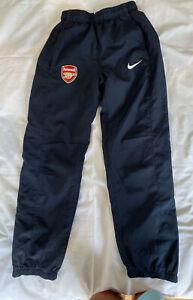 Nike Navy Blue Arsenal Joggers 2 Pockets  Lined Age 8/10 NEW