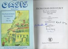 SIGNED LIMITED ED FROM OASIS INTO ITALY WAR POEMS DIARIES AFRICA ITALY 1940-1946