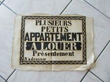 AFFICHE ANCIENNE 1810 PETITS APPARTEMENTS A LOUER printing IMPRIMERIE