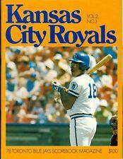 1978 Toronto Blue Jays vs. Kansas City Royals Program/Scorecard: Al Cowens