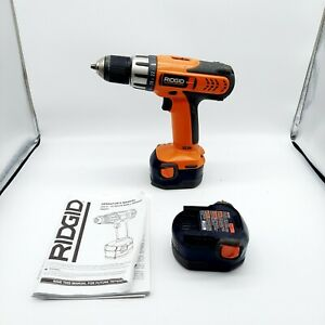 "Ridgid 12 Volt Drill 2 speed 3/8""  Tool R82001 with 2 batteries Read description"