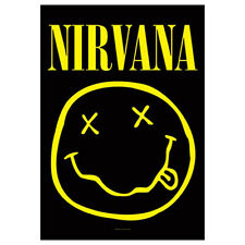 """NIRVANA Smiley Face Tapestry Cloth Poster Flag Wall Banner New 30"""" x 40"""""""
