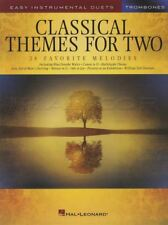 Classical Themes for Two Trombones Easy Instrumental Duets Sheet Music Book