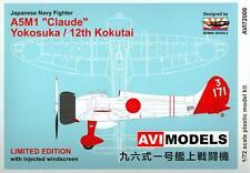"Rising Decals AVI Models MITSUBISHI A5M1 ""CLAUDE""  Yokosuka & 12th Kokutai"