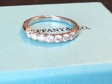 TIFFANY & CO PLATINUM 3mm EMBRACE SETTING DIAMOND RING .57ct NEW $5225 SIZE 6
