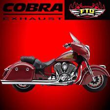 """Cobra 4"""" SLIP-ON MUFFLERS INDIAN CHIEF/CHIEFTAIN/ROADMASTER 14-16 5204"""