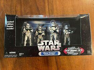 Hasbro Star Wars Trilogy Clone Trooper Builder 4-Pack White Damaged EE 2005